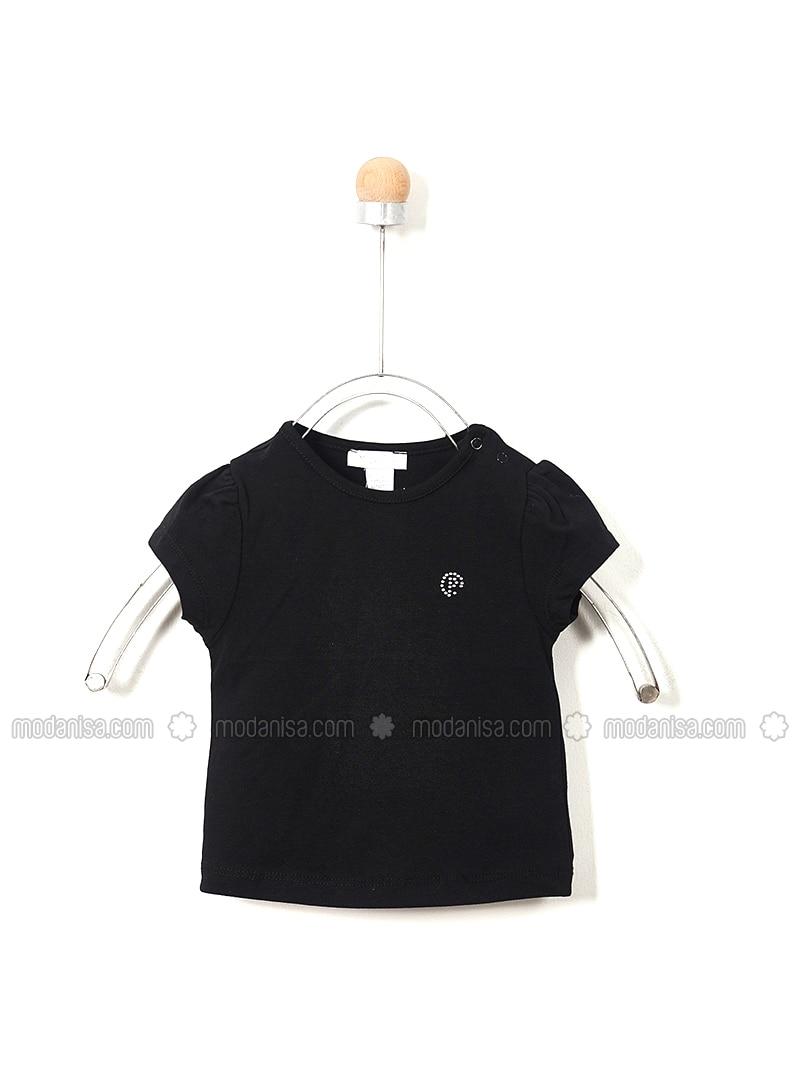 Crew neck - - Black - Baby Body