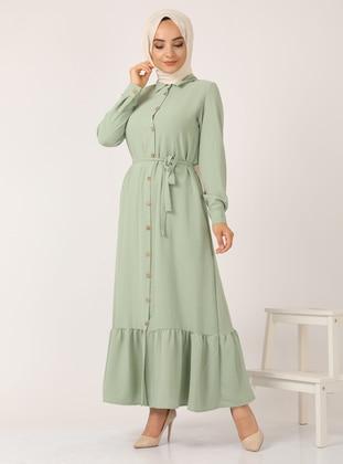 Mint - Point Collar - Unlined - Dress