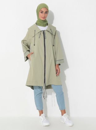 Mint - Unlined - Shawl Collar - Trench Coat