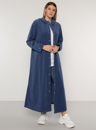 Indigo - Blue - Unlined - Plus Size Coat
