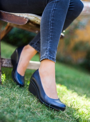 Navy Blue - High Heel - Heels