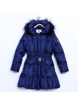 Navy Blue - Girls` Jacket - Silversun