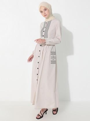 Mink - Crew neck - Unlined -  - Dress