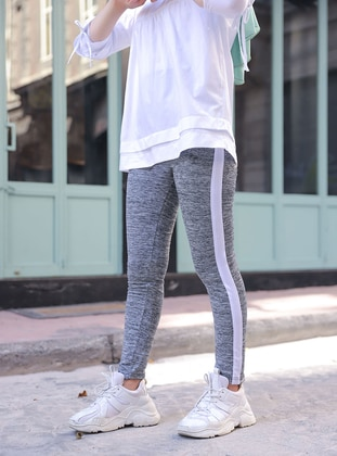 Gray - Gym Leggings