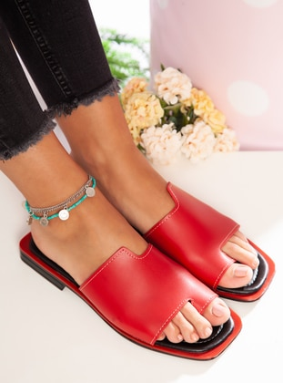 Red - Red - Sandal - Slippers