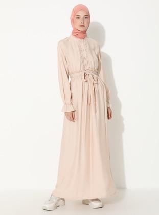 Mink - Button Collar - Unlined -  - Dress