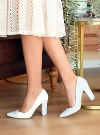 White - Blue - High Heel - Heels