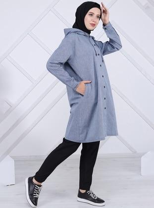 Blue - Unlined -  - Topcoat