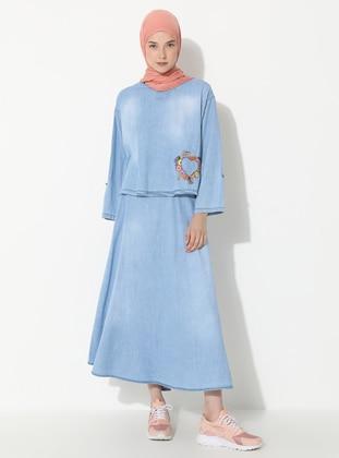 Blue - Unlined -  - Suit