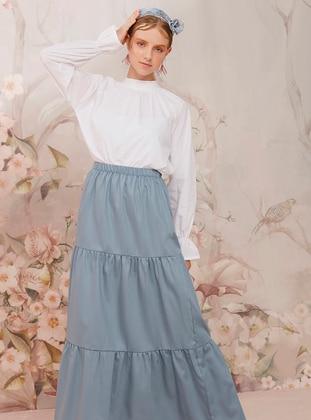 Indigo - Indigo - Unlined - Cotton - Indigo - Unlined - Cotton - Indigo - Unlined - Cotton - Indigo - Unlined - Cotton - Skirt