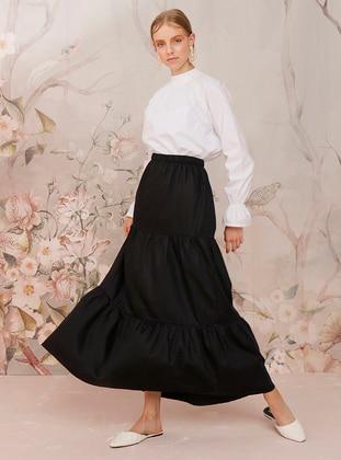 Black - Black - Unlined - Cotton - Black - Unlined - Cotton - Black - Unlined - Cotton - Black - Unlined - Cotton - Skirt