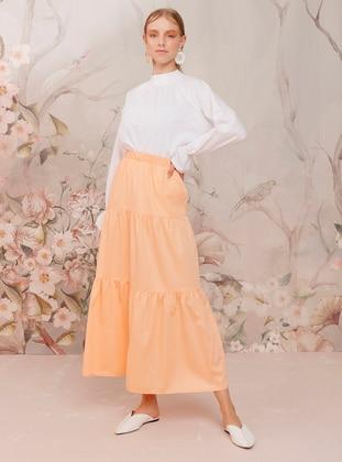 Orange - Orange - Unlined - Cotton - Orange - Unlined - Cotton - Orange - Unlined - Cotton - Orange - Unlined - Cotton - Skirt