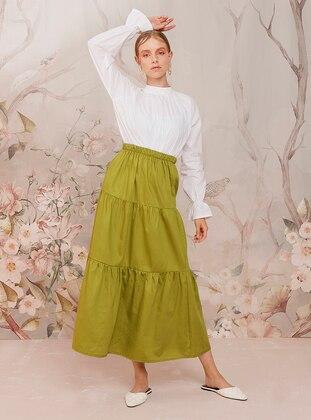 Green - Unlined -  - Skirt