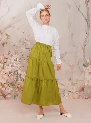 Green - Green - Unlined - Cotton - Green - Unlined - Cotton - Green - Unlined - Cotton - Green - Unlined - Cotton - Skirt