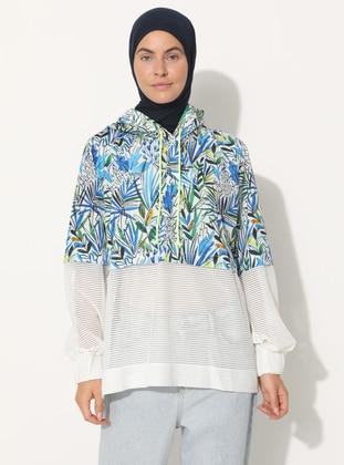 Multi - White - Blue - Sweat-shirt