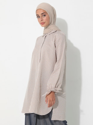 Stone - Gingham - Point Collar - Tunic