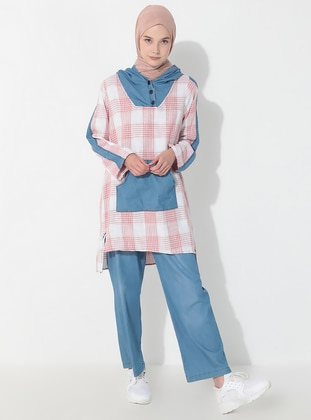 Powder - Checkered - Unlined - Denim -  - Suit