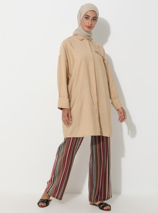 Terra Cotta - Stripe - Viscose - Pants