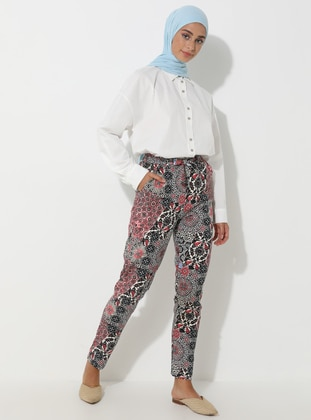 Multi - Floral - Multi - Viscose - Pants