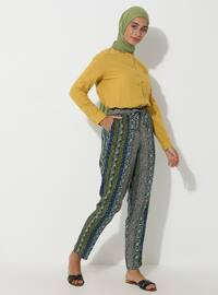 Multi - Floral - Multi - Viscose - Pants