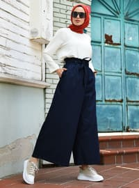 Navy Blue - Denim -  Lyocell - Pants