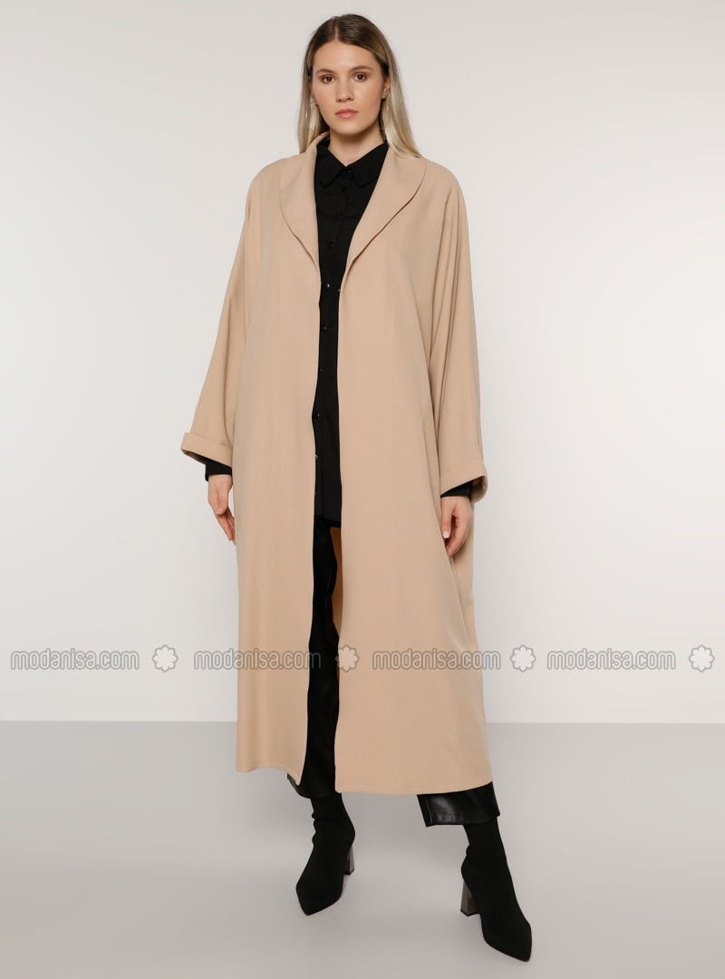 Stone - Unlined - Shawl Collar - Plus Size Coat