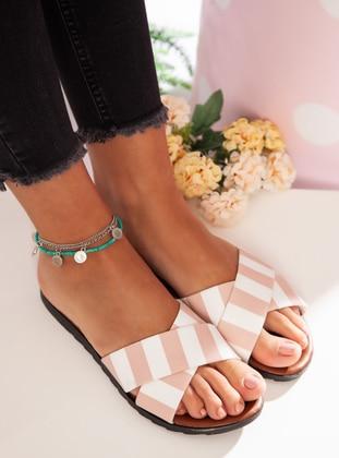 White - Powder - Sandal - Slippers