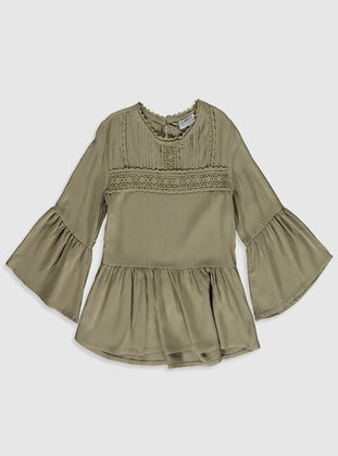 Green - Girls` Blouse - LC WAIKIKI