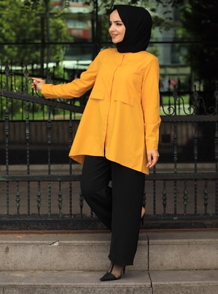 Yellow - Point Collar -  - Tunic