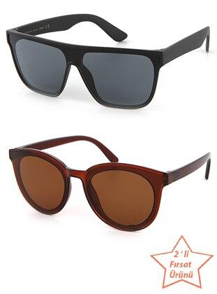Brown - Black - Sunglasses