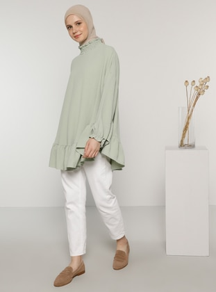 Green - Polo neck - Blouses - Benin