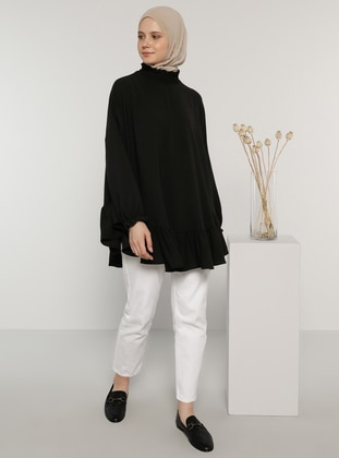 Black - Polo neck - Blouses - Benin