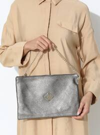 Bronze - Clutch - Clutch Bags / Handbags