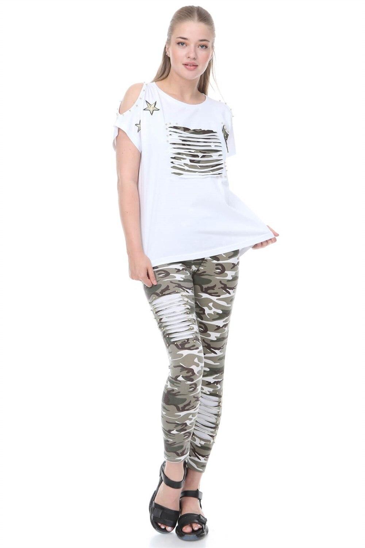 Plus Size Suit MJORA White