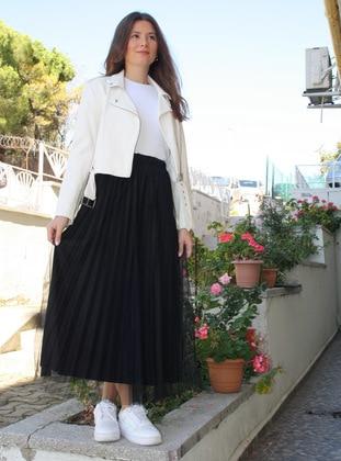 Black - Fully Lined - - Skirt