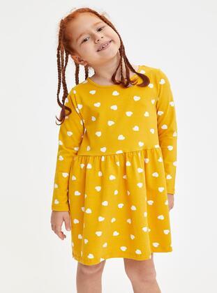 Yellow - Girls` Dress - DeFacto