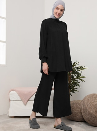 Anthracite - Unlined - Acrylic - Viscose - Suit