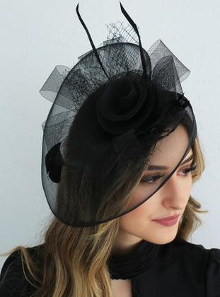Black - Hats - Takıştır Bijuteri