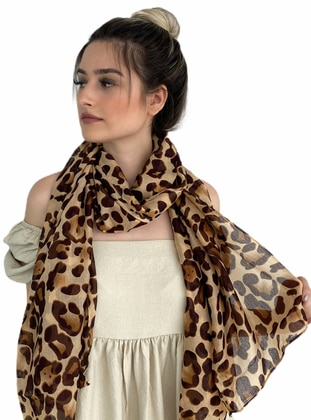Brown - Leopard - Shawl