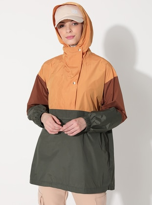 Khaki - Unlined - Puffer Jackets - Saye Modest