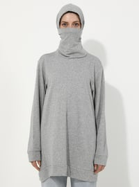 Gray - - Tracksuit Top