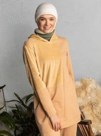 Camel - Unlined - Cotton - Suit