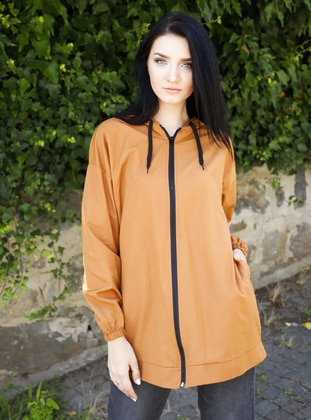 Tan - Unlined - - Trench Coat