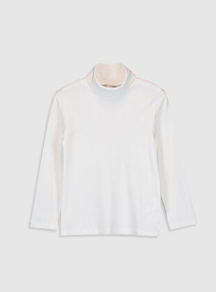 Ecru - Girls` T-Shirt - LC WAIKIKI