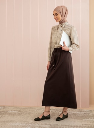 Brown - - Skirt