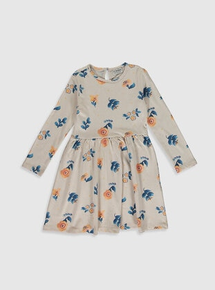 Ecru - Girls` Dress
