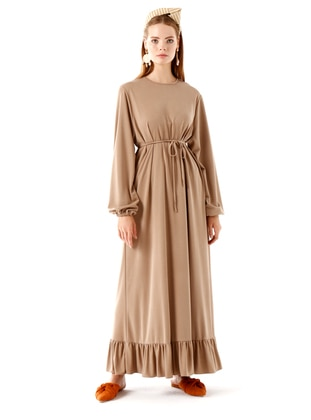 Mink - Crew neck - Unlined -  - Dress