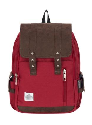 Maroon - Multi - Backpack - School Bags - GNC DESIGN