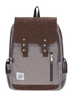 Gray - Multi - Backpack - School Bags - GNC DESIGN