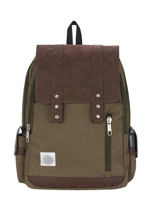 Khaki - Multi - Backpack - School Bags - GNC DESIGN